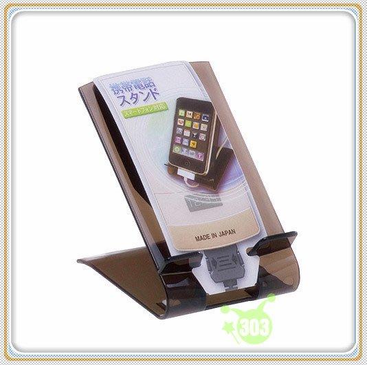 303生活雜貨館 日本製 山田 YAMADA 458 行動電話置放架-透明/粉/棕 ~顏色隨機出貨~
