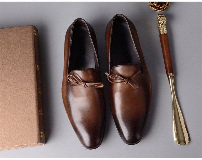 **蛻變英倫**韓國限定版連線熱賣高品質訂製歐美頂級款歐美英倫風復古真皮牛皮手工商務休閒尖頭德比皮鞋樂福鞋男韓版潮