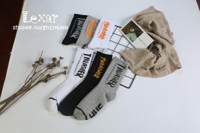 歐美日韓潮牌字母男士全棉中筒襪原宿風男女情侶運動塑性長襪