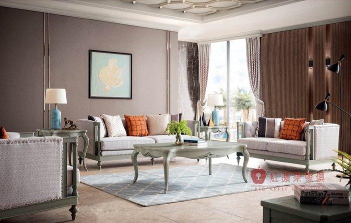 [紅蘋果傢俱] YKH-818 歐式輕奢唯美 布沙發 歐式沙發 新古典沙發 實木沙發 沙發組