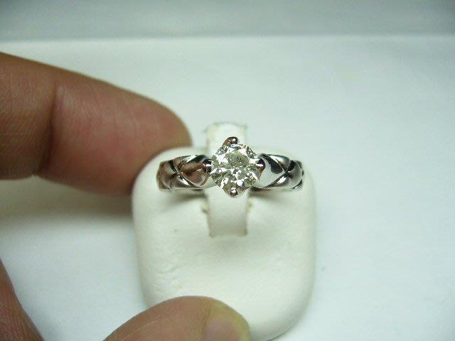 [吉宏精品交流中心]66分 南非天然鑽石 白K金 造型 戒指(附證書)