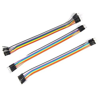 1P彩色杜邦線彩排線 30cm 母對母/公對公/公對母 jumper wires