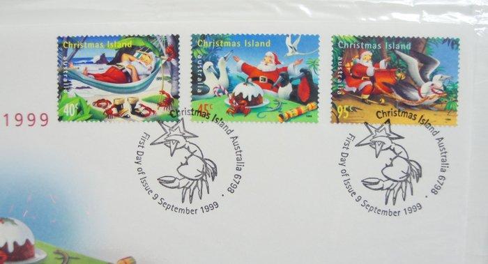 (全新) 澳洲1999年- 聖誕節- 首日封