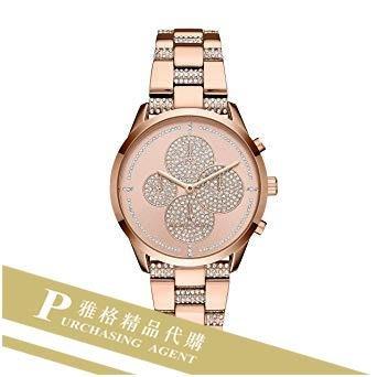 雅格時尚精品代購Michael Kors MK6555 玫瑰金鑲鑽  精品流行女錶 歐美時尚 美國代購