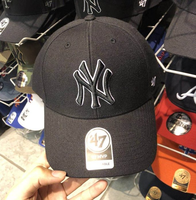 MLB 棒球帽 紐約洋基隊  47 Brand 黑色 現貨!!