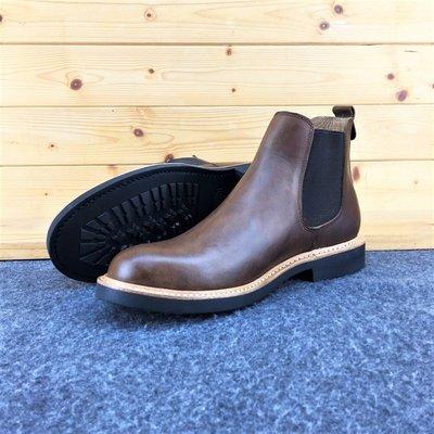 瘋馬 (Chelsea Boots) 切爾喜靴 進口油蠟皮 固特異縫製 純橡膠底 牛皮厚底靴 工作靴 美式牛皮靴
