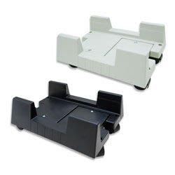 【開心驛站】主機架附輪子煞車塑膠材質(黑/白兩色)