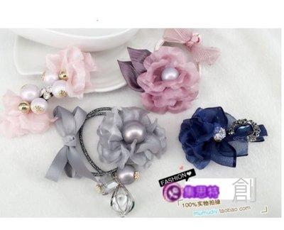 diy配件/雪紗定型花片5片裝/集思特緞帶美學髮飾(0429-6)