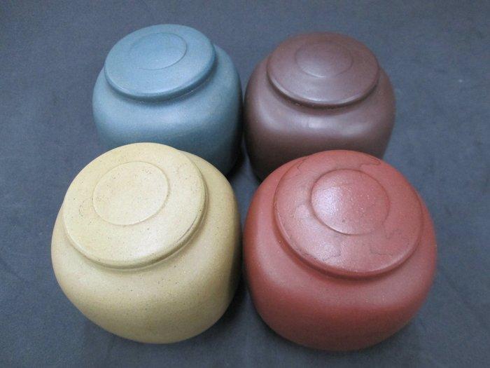 《福爾摩沙綠工場》@紫砂四色土茶葉罐@一套共4個特價2000元@