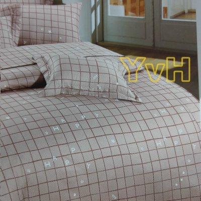 =YvH=床包兩用被 台灣製造印染100%純棉表布 卡其棕色 雙人床包枕套 鋪棉兩用被套 四季用(訂做款)