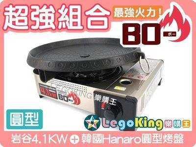 【岩谷4.1KW+韓國Hanaro圓型烤盤】超強組合 【C0019】