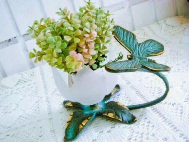 ~蘇菲亞精品傢飾~外貿美歐商品復古青銅色蝴蝶燭台