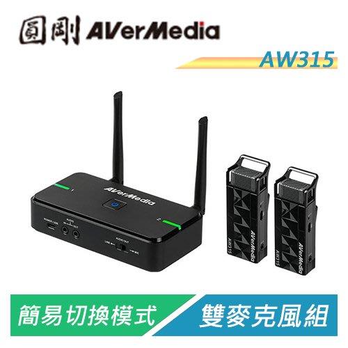 【電子超商】圓剛 AVerMic AW315 教學專用無線麥克風(雙麥克風組)