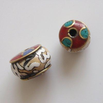 戀尚樂購/ 藏式尼泊爾手工老海螺勒珠散珠銅珠DIY配件六字真言藏式珠jty-168