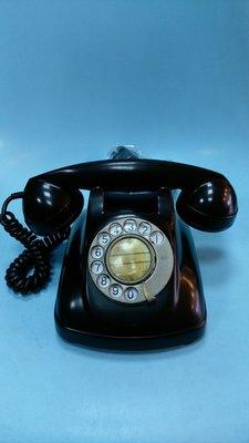 @阿布的店@老黑色電木電話-轉盤是法瑯-少見美品-值得收藏.