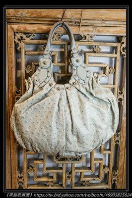 《黑貓歌舞團》Gucci 鴕鳥包 原價31萬 手把仿舊處理