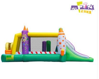 樂叔叔兒童充氣城堡家用遊戲屋蹦蹦牀淘氣堡遊樂場雙滑梯跳床