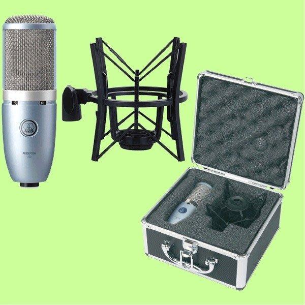 5Cgo【權宇】AKG 愛科技 PERCEPTION 220 現場/錄音室通用美聲電容式麥克風含心型支架攜行盒一年保含稅