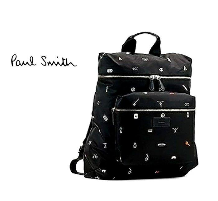 Paul Smith ► (黑色×可愛圖案)  防水尼龍後背包 中性款|100%全新正品|特價!