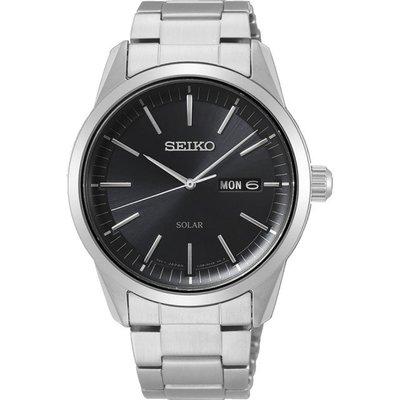 現貨 可自取 SEIKO SNE527P1 精工錶 40mm 太陽能 大三針 黑色面盤 日期視窗 鋼錶帶 男錶女錶