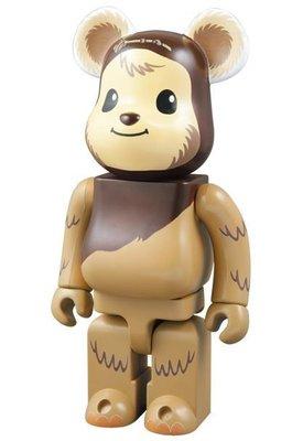 金錢貓雜貨 全新 Bearbrick 400% 迪士尼 Star Wars 星際大戰 Wicket 伊娃族