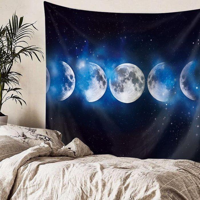 (大尺寸)居家裝飾 宇宙星空 月球 牆壁裝飾 3D印花 掛毯壁毯 房間裝飾 直播背景布 創意 │悠飾生活|