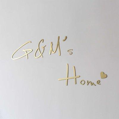 立體字定做不銹鋼3d鈦合金廣告字體定制金屬墻貼歡迎回家墻面裝飾