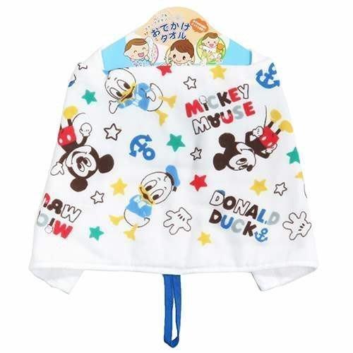 日本 迪士尼 手帕 棉紗無捻紗材質手帕 多功能毛巾 圍兜兜(速乾 好清洗)