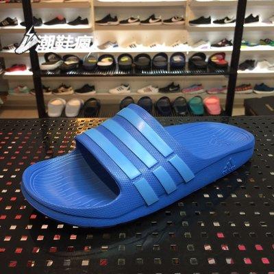 {潮鞋瘋}ADIDAS DURAMO SLIDE 藍 拖鞋 一體成型  情侶款(女段)  B44297 台中市
