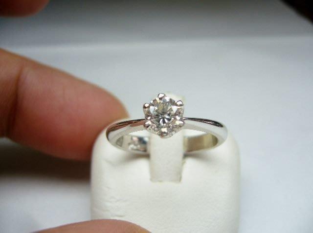 [吉宏精品交流中心]55分 南非天然鑽石 六爪 白K金 戒指