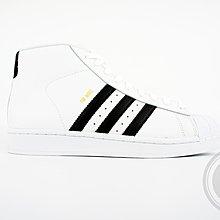 【A-KAY0】ADIDAS 男女 PRO MODEL WHITE GOLD 皮革 金標 白黑【S85956】