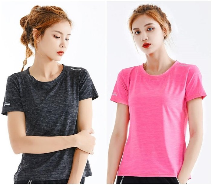 夏季戶外女款休閒運動短袖T恤 柔軟親膚涼感 涼感上衣 運動T 兩色 現貨
