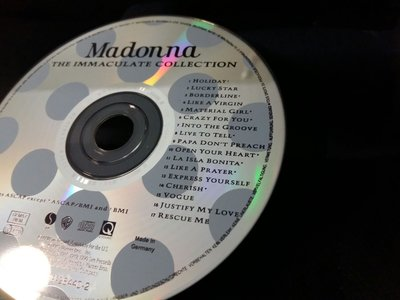 MADONNA THE IMMACULATE COLLECTIONMADE IN GERMANY