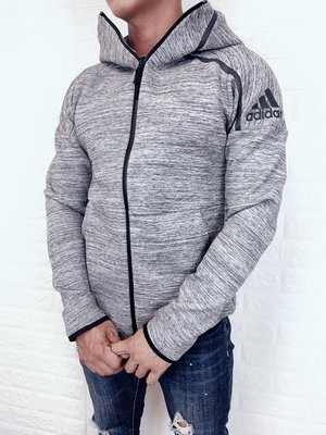 adidas 愛迪達 休閒 運動 保暖 棉質 情侶款 連帽外套 CG1484