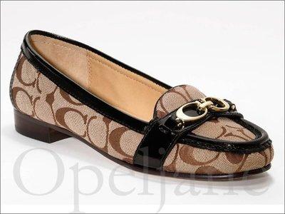 Coach Flat Shoes CC金屬上班族百搭低跟懶人鞋娃娃鞋休閒鞋包鞋5.5 7號 22.5 24號  免運費