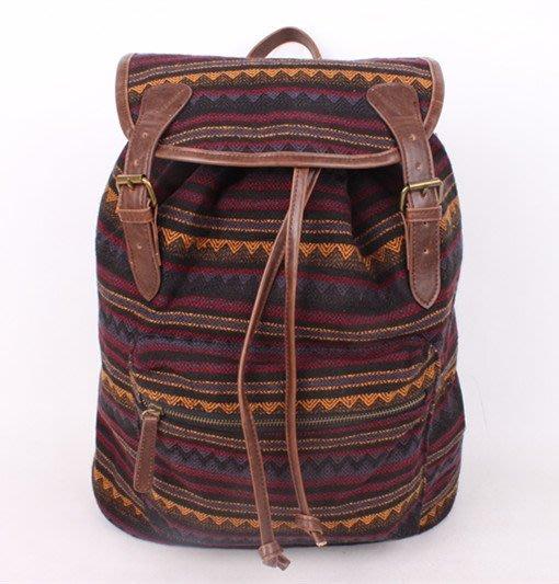 MISHIANA  民族異國風格棉質後背包 ( 男生都適用,新款上市,特價出售 )