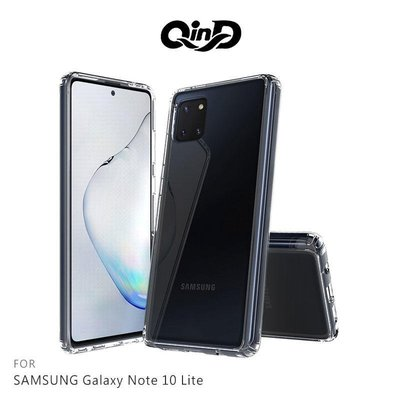 -庫米--QinD SAMSUNG Galaxy Note10 Lite 雙料保護套 透明殼 硬殼 背蓋式