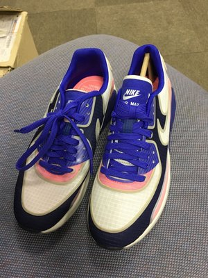 Nike Air Max 90 Ultra 2.0 White Blue Pink 881108 101 Womens Running Shoes