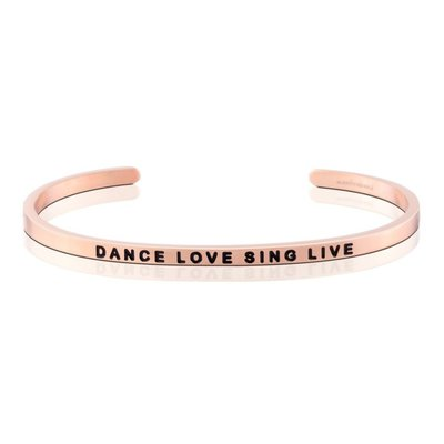 MANTRABAND 台北ShopSmart Dance Love Sing Live 跳舞 去愛 唱歌 活著 玫瑰金