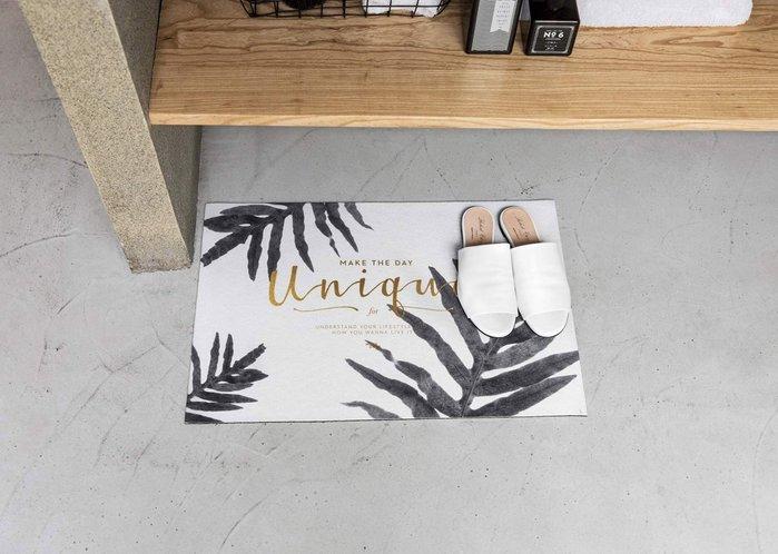 - Meiprunus -原創 設計 北歐 簡約 貫眾蕨 地毯 腳踏墊 地墊 衛浴 浴室 廚房 防滑墊