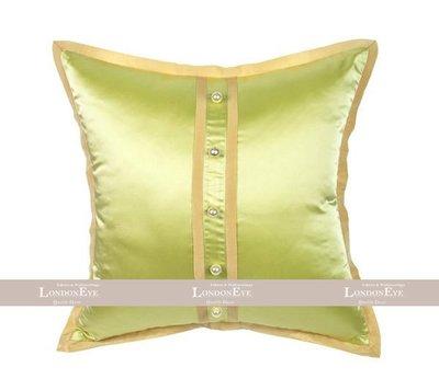 【 LondonEYE 】法夏系列-凱莉 現代美式X珍珠立體逢扣X精品合口包邊 純手工訂製抱枕套(檸綠)