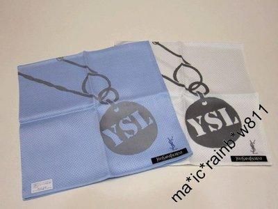 YSL 日版 方巾,手帕 ( YSL吊飾扣針圖案 ) 購自日本 ,YS0091