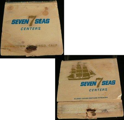 乖乖@賣場~火柴盒.古早味火柴盒.古早趣味收藏.SEVEN SEAS CENTERS七海購物中心BN459