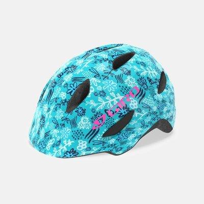 【速度公園】美國品牌 GIRO Scamp 兒童安全帽 自行車 滑步車 公路車 登山車 藍色花卉 XS/S