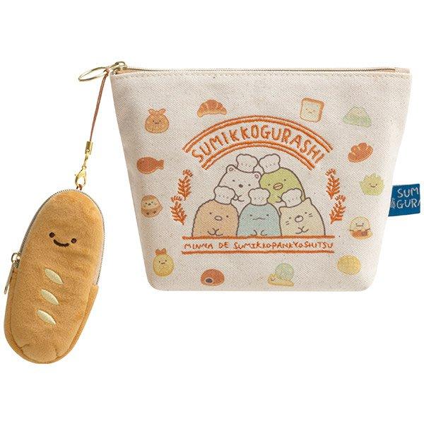 《FOS》2019新款 日本 角落生物 麵包 化妝包 零錢包 手機包 雜物 小物 可愛 錢包 角落小夥伴 收納 禮物