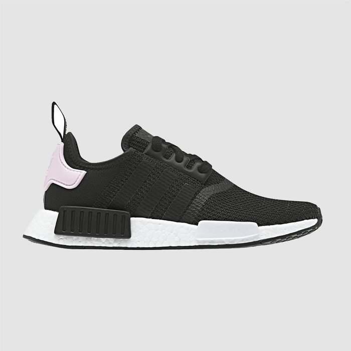 【QUEST】ADIDAS NMD R1 黑粉 黑紫 粉尾 BOOST 網布 編織 透氣 慢跑鞋 女鞋 B37649