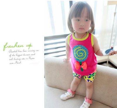 『ETS童裝』6個月-4歲春夏女童嬰兒背心套裝-全店$240/1,$590/3 ,860/5 , 價錢已包含運費