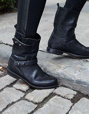 Rag & Bone 黑色手工真皮機車靴 工程靴 好萊塢明星名模 最愛