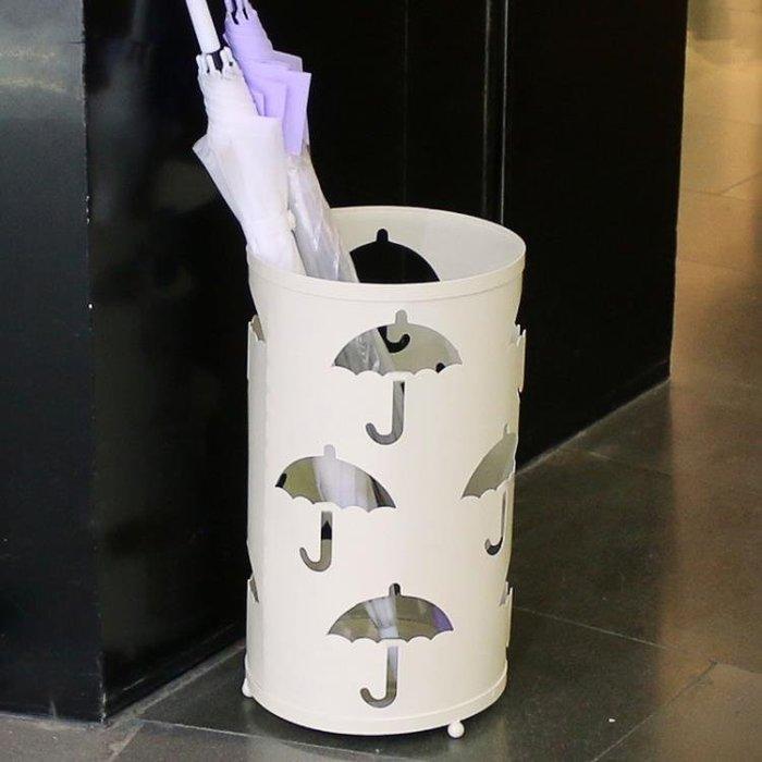 創意雨傘桶 家用歐式鐵藝雨傘架 酒店大堂雨具雨傘收納桶放置架 IGO