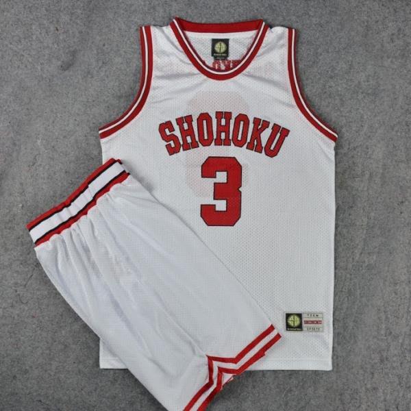 灌籃高手球衣隊服湘北3號赤木晴子籃球衣背心籃球服套裝白色 LOVELIFEE